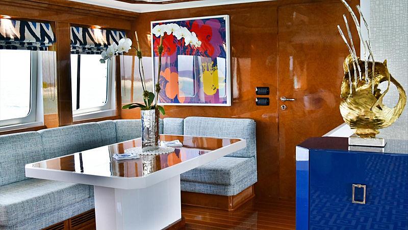 Octopussy yacht saloon