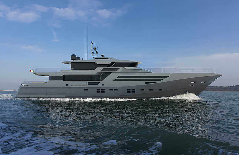 GHI Thunderbird 130 yacht exterior design