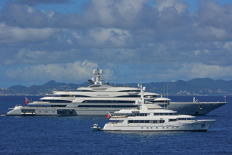 Ocean Victory and Arete in St Barths
