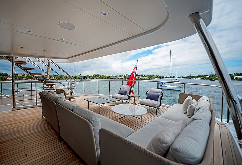 Gitana yacht aft deck