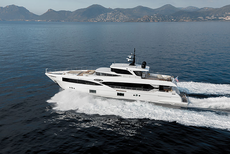 Majesty 100 yacht exterior