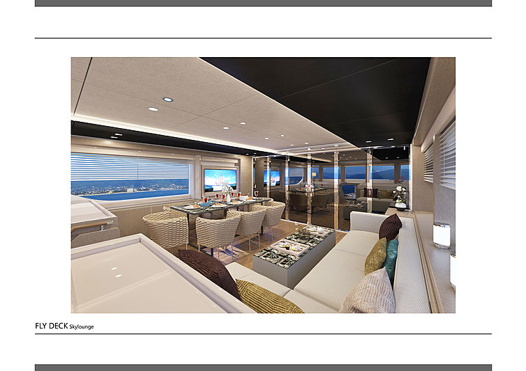 Majesty 100 yacht interior design