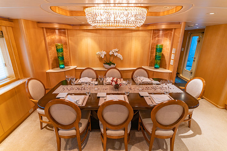 Sea Forever yacht dining