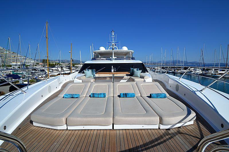 Willpower yacht foredeck