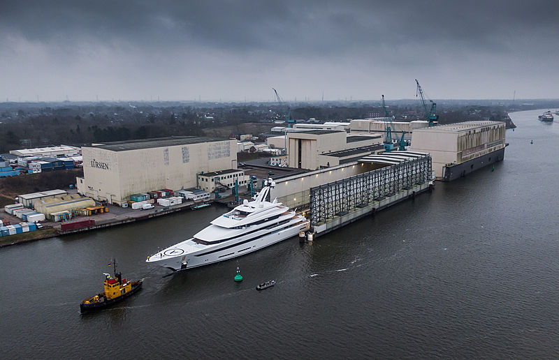 Lürssen 87m Project Hawaii yacht launch