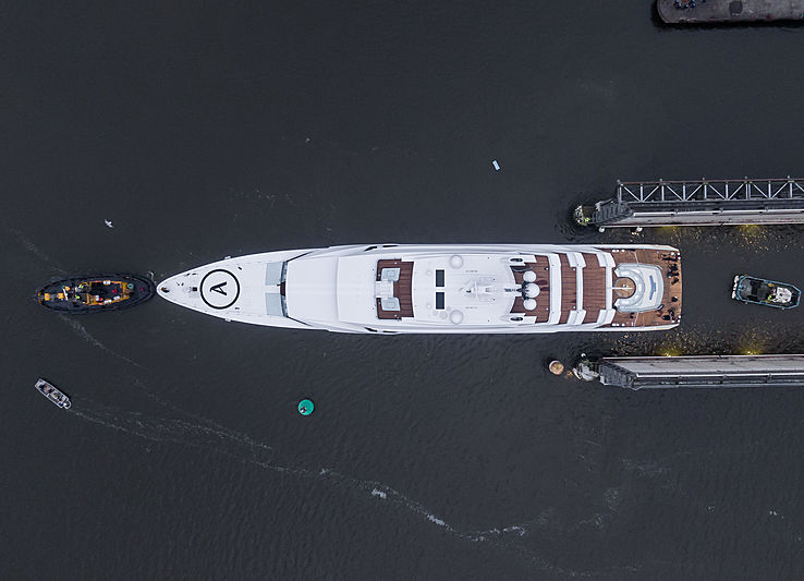 Lürssen 87m Project Hawaii yacht launch