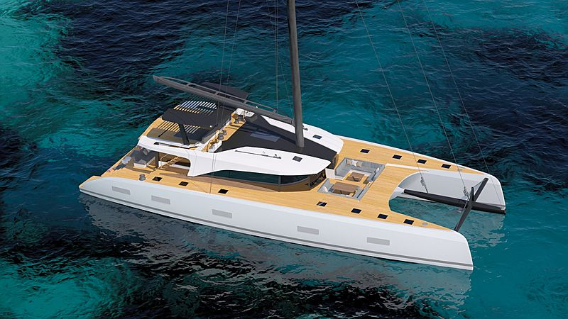 Southern Wind SWCAT90 yacht rendering