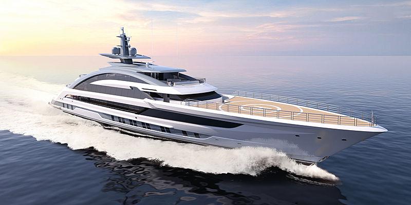 Cosmos yacht exterior rendering