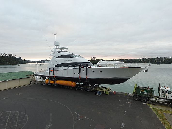 Al Duhail yacht launch at Yachting Developments in Hobsonville