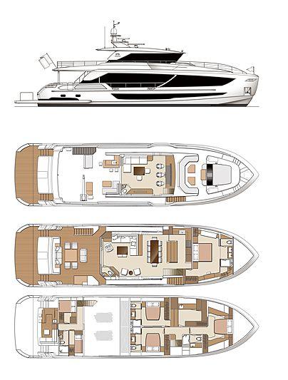 Horizon FD87/12 yacht layout