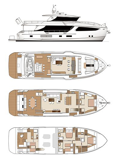 Horizon FD80/04 yacht layout