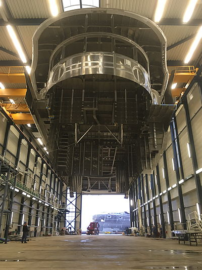 Royal Huisman Project Phi yacht in build in Vollenhove