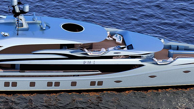 Royal Huisman Project Phi yacht exterior design
