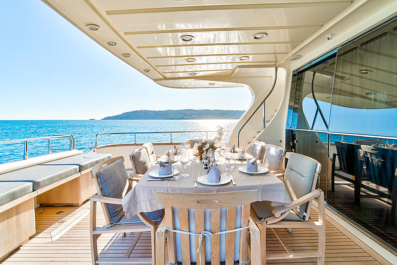 Luisamay yacht aft deck