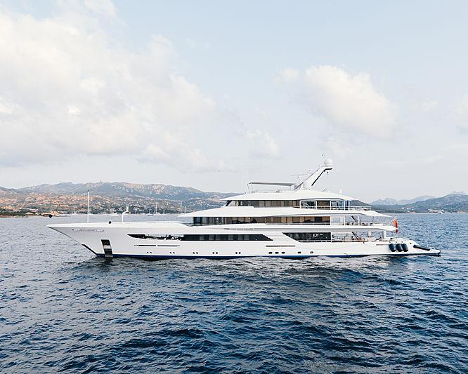 Joy yacht at anchor