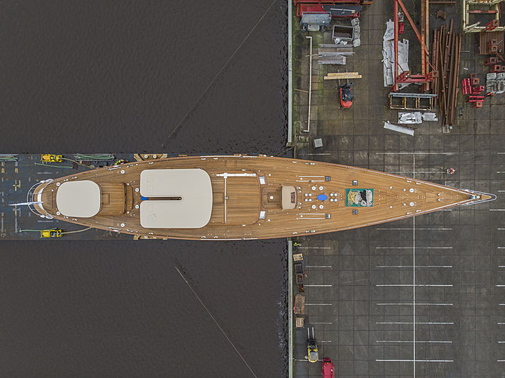 Vitters yacht Meraki launch in Zwartsluis