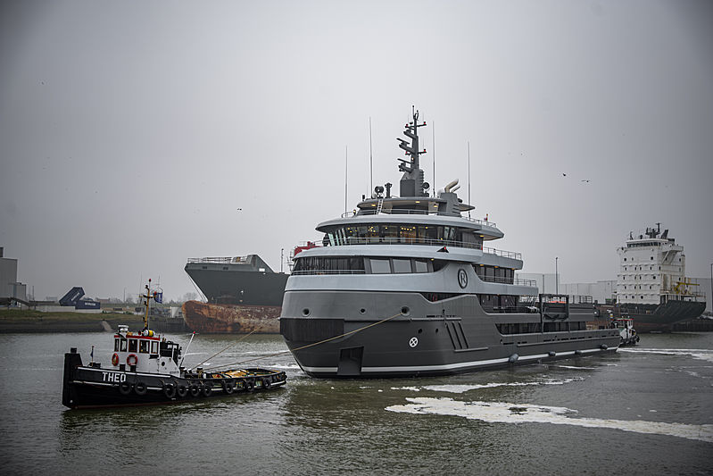 Ragnar yacht launch at Icon Yachts