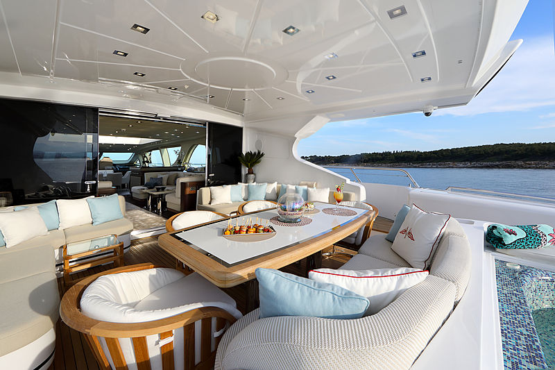 You & G yacht aft deck