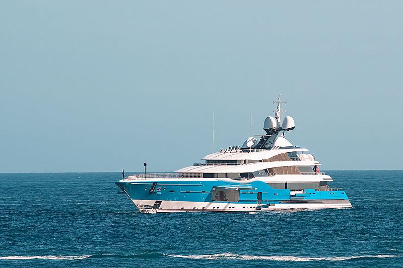 Madame Gu yacht in Monaco Marina