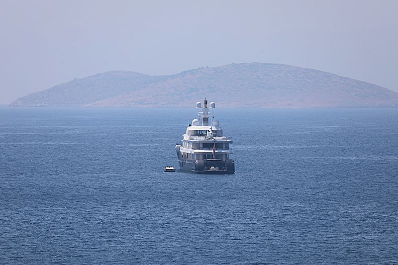 Air yacht anchored off Bodrum