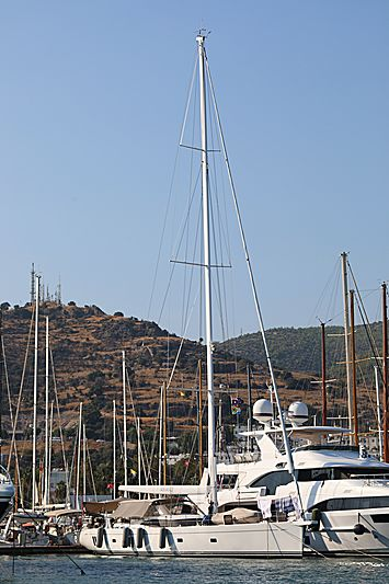 Amanzi yacht in Bodrum Marina