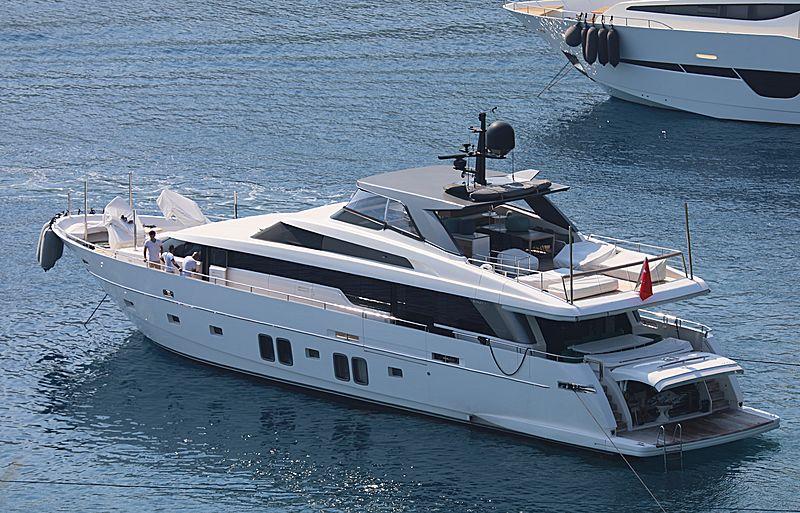 B&B yacht anchored off Bodrum