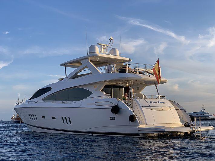 Li-Jor yacht anchored