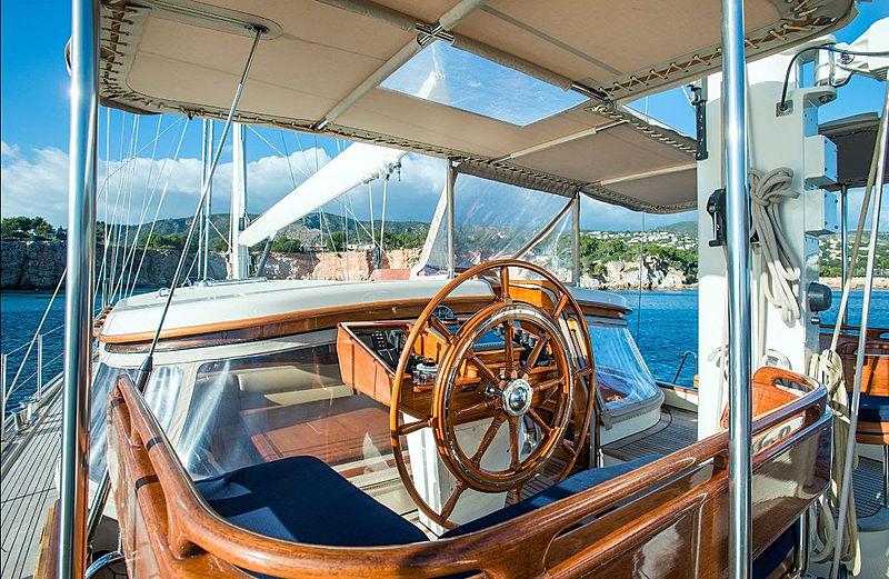 Audrey II yacht cockpit