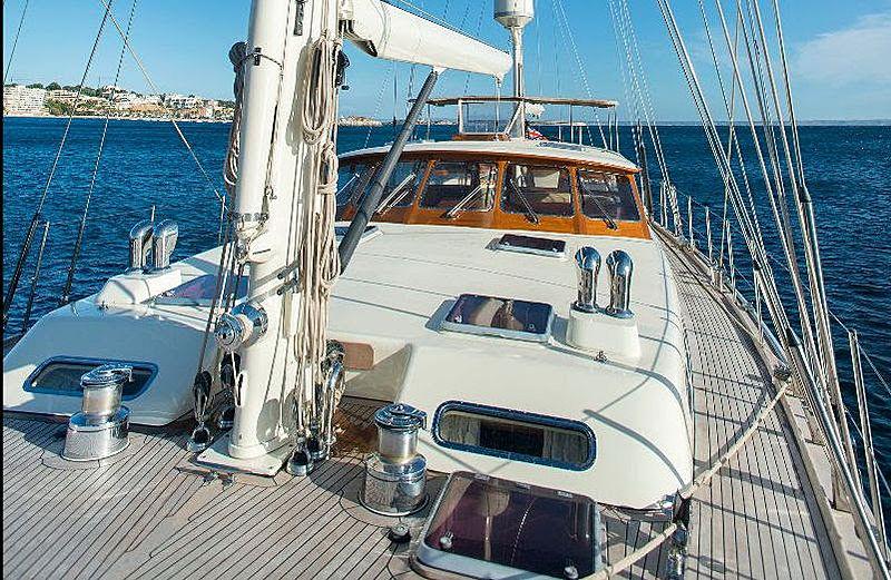 Audrey II yacht deck
