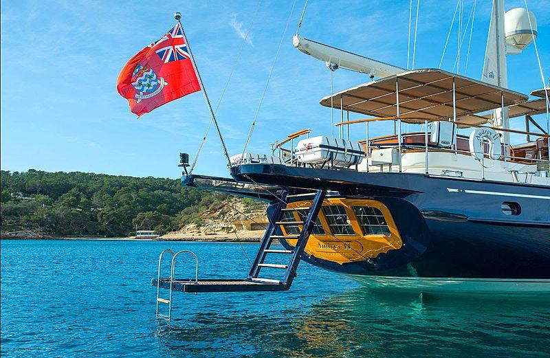 Audrey II yacht stern