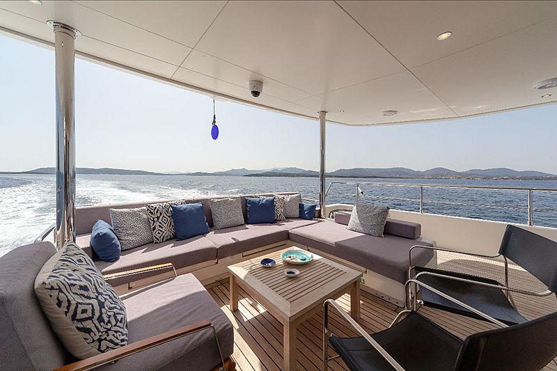 Rosey yacht aft deck