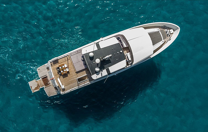 Rosey yacht aerial