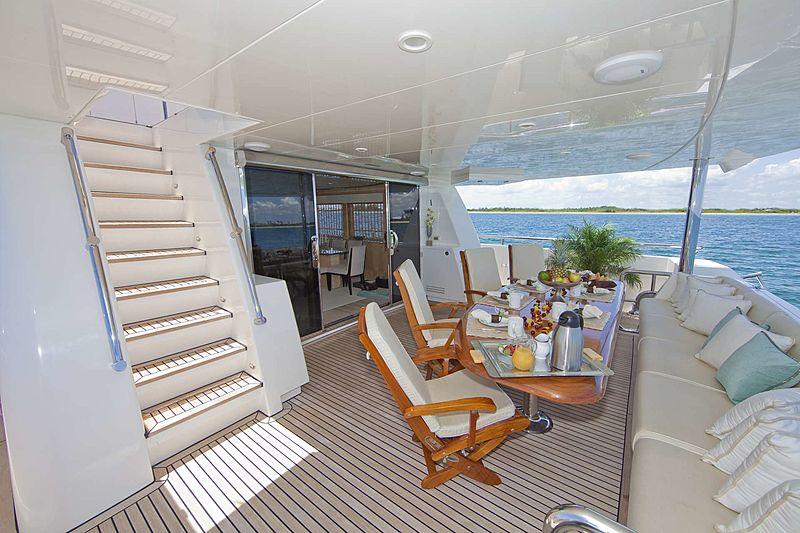 Diamond Girl yacht aft deck