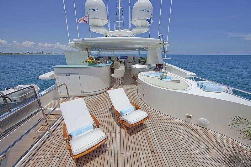 Diamond Girl yacht sundeck