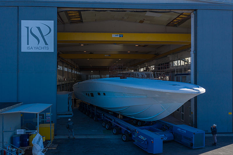ISA Super Sportivo 100GTO/01 yacht in build in Ancona