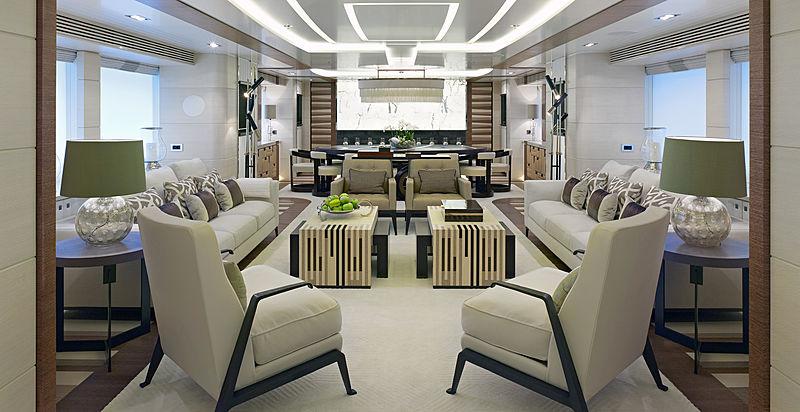 My Secret yacht saloon