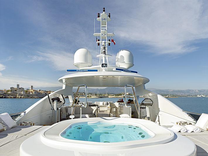 My Secret yacht top deck jacuzzi