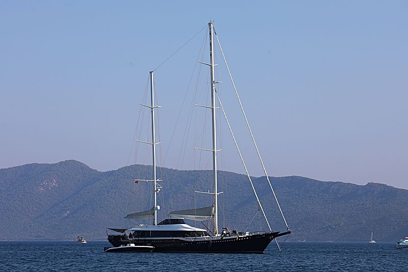 Infinity yacht anchored off Bodrum