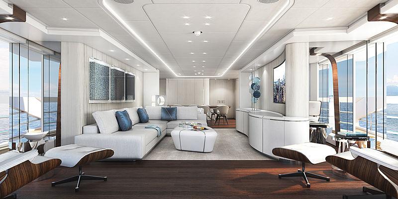 Heesen Electra yacht interior renderings
