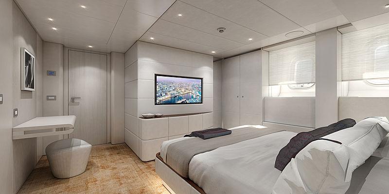 Heesen Electra yacht VIP stateroom rendering