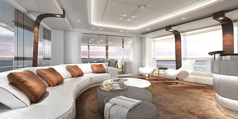Heesen Electra yacht skylounge rendering