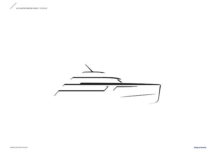 Feadship De Vries 709 yacht exterior render