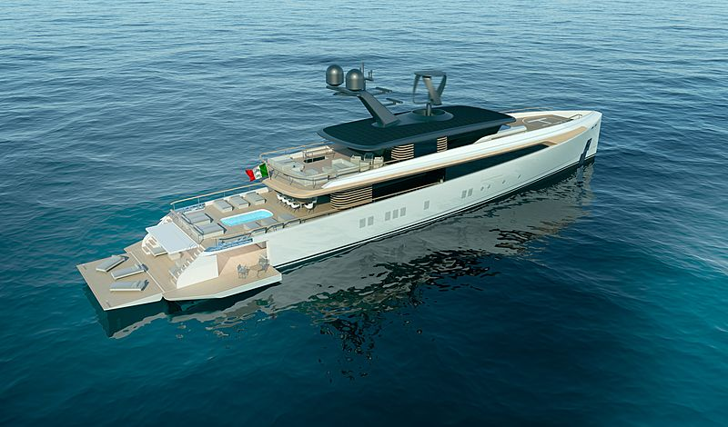 Ross122 yacht exterior design
