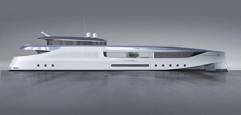 Naboo 500 yacht exterior design