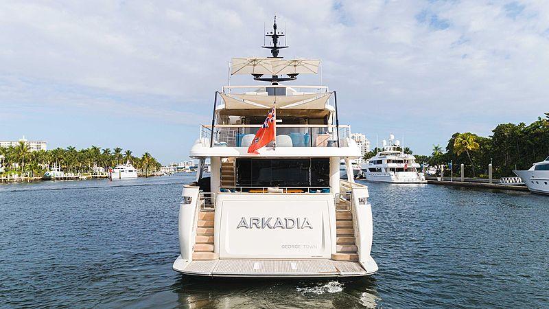Arkadia yacht stern