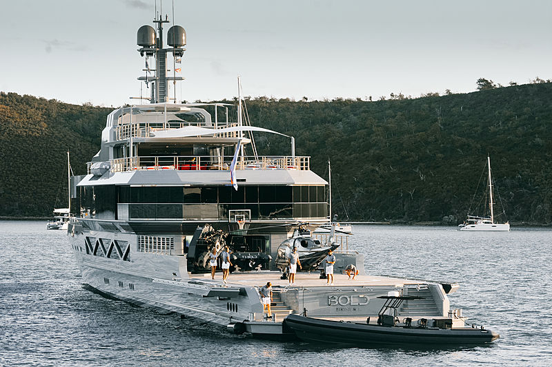 Bold yacht by SilverYachts in St Barths