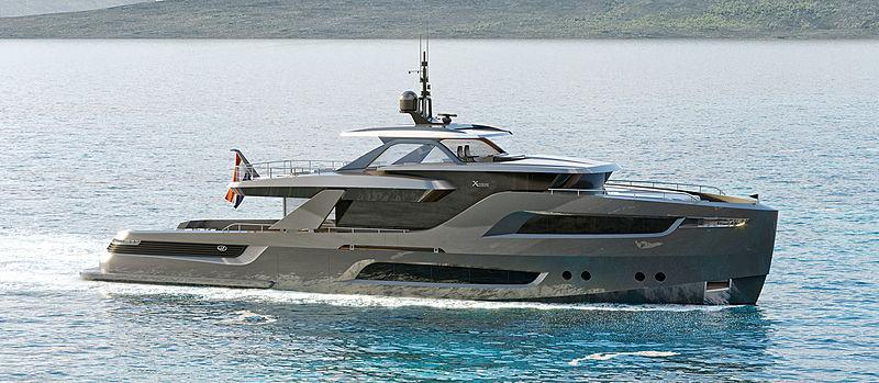 X-Treme 105 yacht exterior design