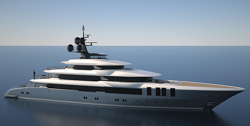 Turquoise 75m yacht project exterior rendering