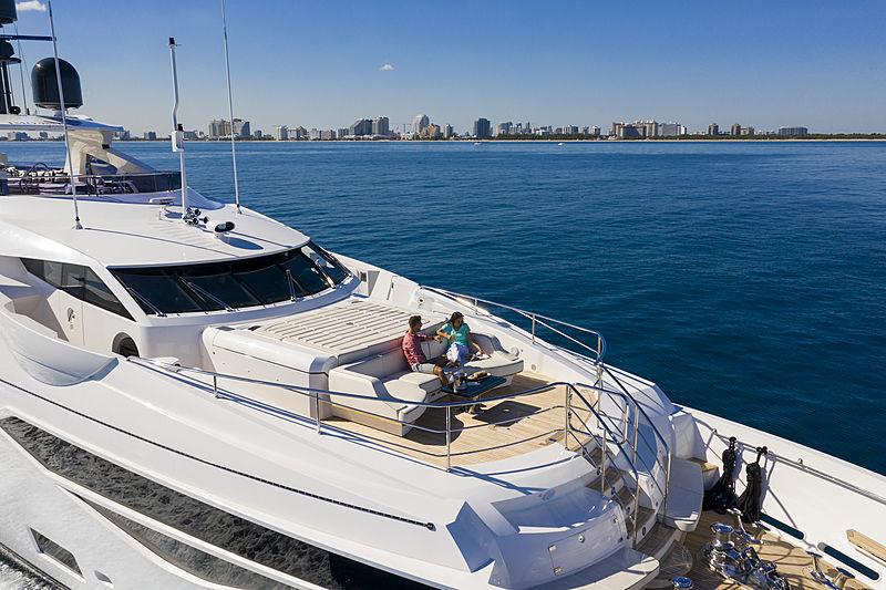 Exodus yacht foredeck