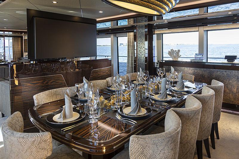 Exodus yacht dining table